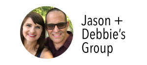 Photo of Jason & Debbie for their group
