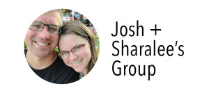 Photo of Josh & Sharalee for their group