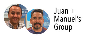 Photo of Juan & Manuel for their group
